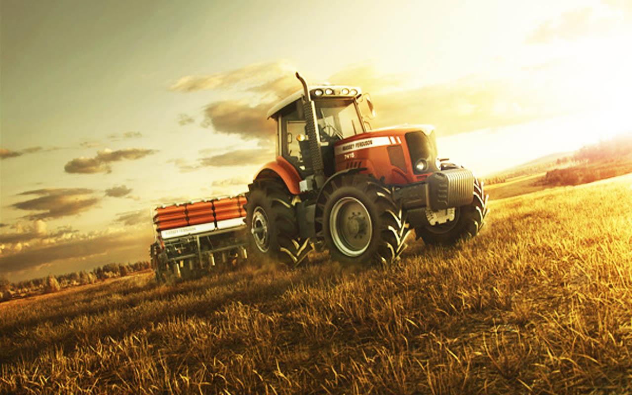 Прикольные картинки трактор в поле